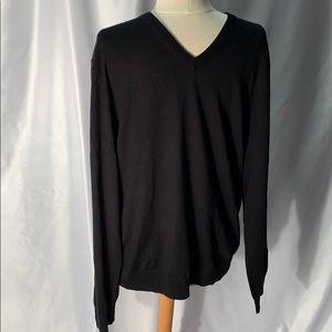 Jos. A. Bank Traveler Black V Neck Sweater Size XL